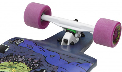 Bombsquad Longboard Drop Through Complete-Board Cruiser Dracula - Professional Longboard with Koston ball bearings – Bild 2