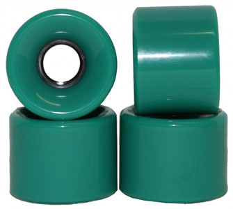 Koston Blank Longboard Wheels 59 x 45 mm / 78a Turquoise Green - Longboard Cruiser Wheel Set (4 wheels) – Bild 1