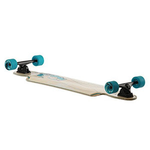 Flying Wheels Longboard Cruiser Mustang Sally Skyblue complete board 38.5 x 9.5 inch Carver - Special Edition with Koston ball bearings – Bild 3