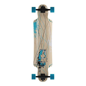 Flying Wheels Longboard Cruiser Mustang Sally Skyblue complete board 38.5 x 9.5 inch Carver - Special Edition with Koston ball bearings – Bild 1