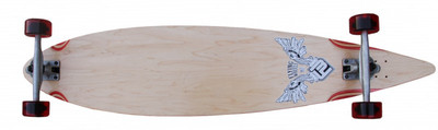 Flying Wheels Longboard Complete Pintail board 113 x 25 cm Carver Cruiser - Special Edition with Koston ball bearings – Bild 1