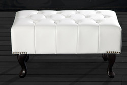 Chesterfield ottoman from the White House home Padrino - stool