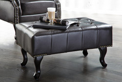Chesterfield ottoman from the Dark Coffee House home Padrino