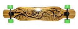 Koston Bambus Longboard Komplettboard Dancer Cruiser Gan Jiang 46.0 x 9.0 inch - Profi Longboard Carver - Carving Dance Longboard
