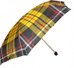 Jean Paul Gaultier luxury designer umbrella in elegant plaid patterns Mod2 - folding umbrella