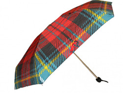 Jean Paul Gaultier luxury designer umbrella in elegant plaid patterns Mod3 - folding umbrella