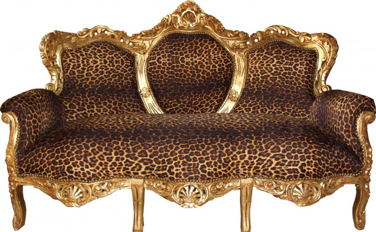 casa padrino barock 3er sofa king leopard gold antik m bel sofas barock sofas. Black Bedroom Furniture Sets. Home Design Ideas