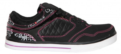 Airwalk Skateboard Damen Schuhe Collar Lace Black/Pink -  Sneakers Shoes – Bild 1