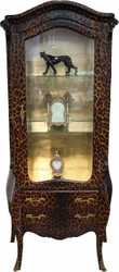 Casa Padrino baroque display case in Leopard Print - display cabinet - cupboard