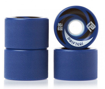 Flying Wheels Longboard Wheels Professional Drifters 65mm / 86a + blue rounded roughened tread - Longboard Cruiser Wheel Set (4 wheels)