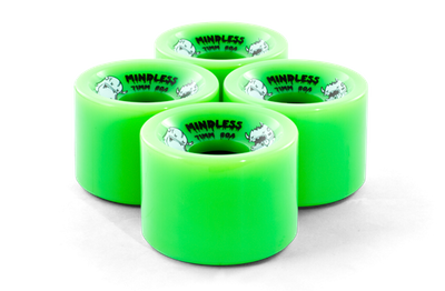 Mindless Longboard Wheel Set (4 Rollen) Nimball Green 71mm / 80A - Cruiser Skateboard Rollen - Wheels – Bild 2