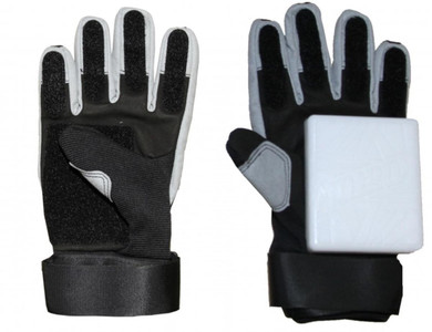 Koston Slide Handschuhe Longboard Gloves Schwarz / Silber - Skateboard Handschuhe - Slidegloves Slider Glove Set mit Security Reflector System – Bild 2