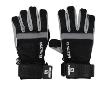 Koston Slide Handschuhe Longboard Gloves Schwarz / Silber - Skateboard Handschuhe - Slidegloves Slider Glove Set mit Security Reflector System – Bild 1