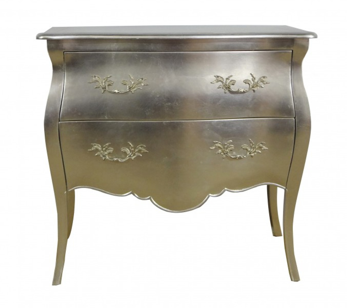 Casa padrino baroque chest silver 95 cm cabinet commodes for Kommode silber