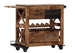 Casa Padrino Bar Trolley Serving mango hardwood - Hotel & Restaurant Furniture
