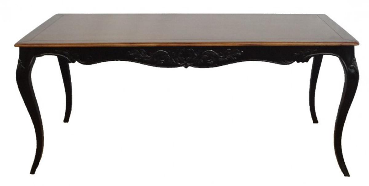 Casa Padrino Barock Esstisch Antik Schwarz Holzfarben Mahagony Holz 180 Cm Tisch