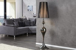 Casa Padrino Baroque floor lamp black 1-burner - light lamp
