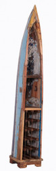 Casa Padrino vintage wine rack cabinet boat - 100% recycled waste wood