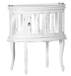 Casa Padrino bar cabinet wine cabinet Whiskey Shabby Chic look white - Baroque Rococo art nouveau glass cabinet
