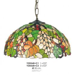 Casa Padrino Tiffany Hängeleuchte Durchmesser 50cm Leuchte Lampe