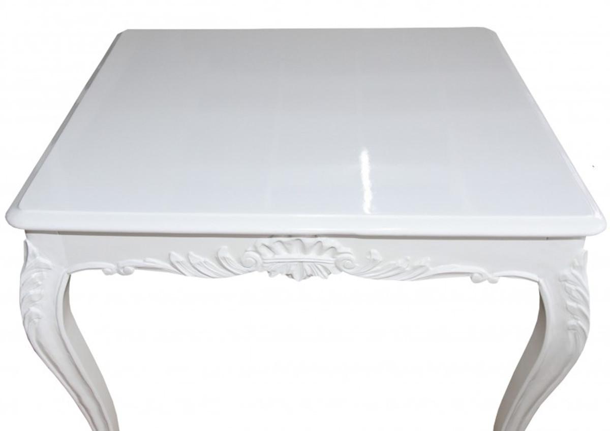 Casa Padrino Barock Esstisch Weiss 100 Cm X 90 Cm  Esszimmer Tisch U2013 Bild 3