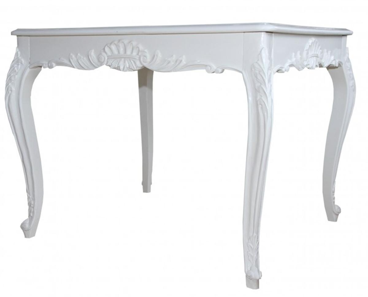 Casa Padrino Barock Esstisch Weiss 100 Cm X 90 Cm  Esszimmer Tisch