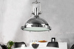 Casa Padrino Industrial hanging lamp chrome Mod2 45 cm - Industrial Design Vintage lamp light