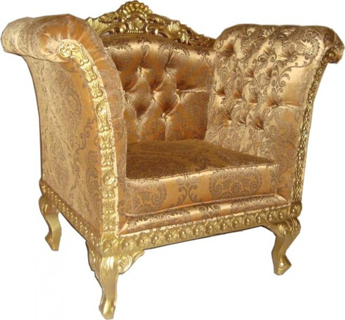 casa padrino barock lounge sessel gold muster gold m bel. Black Bedroom Furniture Sets. Home Design Ideas