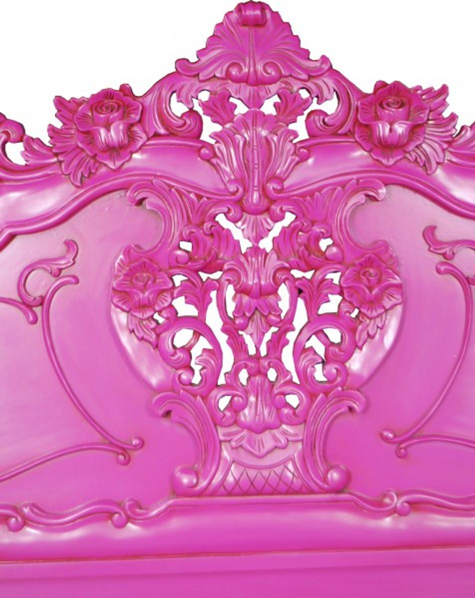 Barock Bett Pure Baroque Pink 160 X 200 Cm Aus Der Luxus Kollektion Von  Casa Padrino