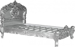 Baroque bed Pure Baroque silver 160 x 200 cm from the luxury collection of Casa Padrino