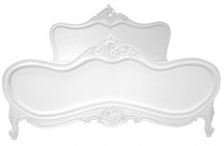 Baroque bed Maison Paris White 180 x 200 cm from the luxury collection of Casa Padrino