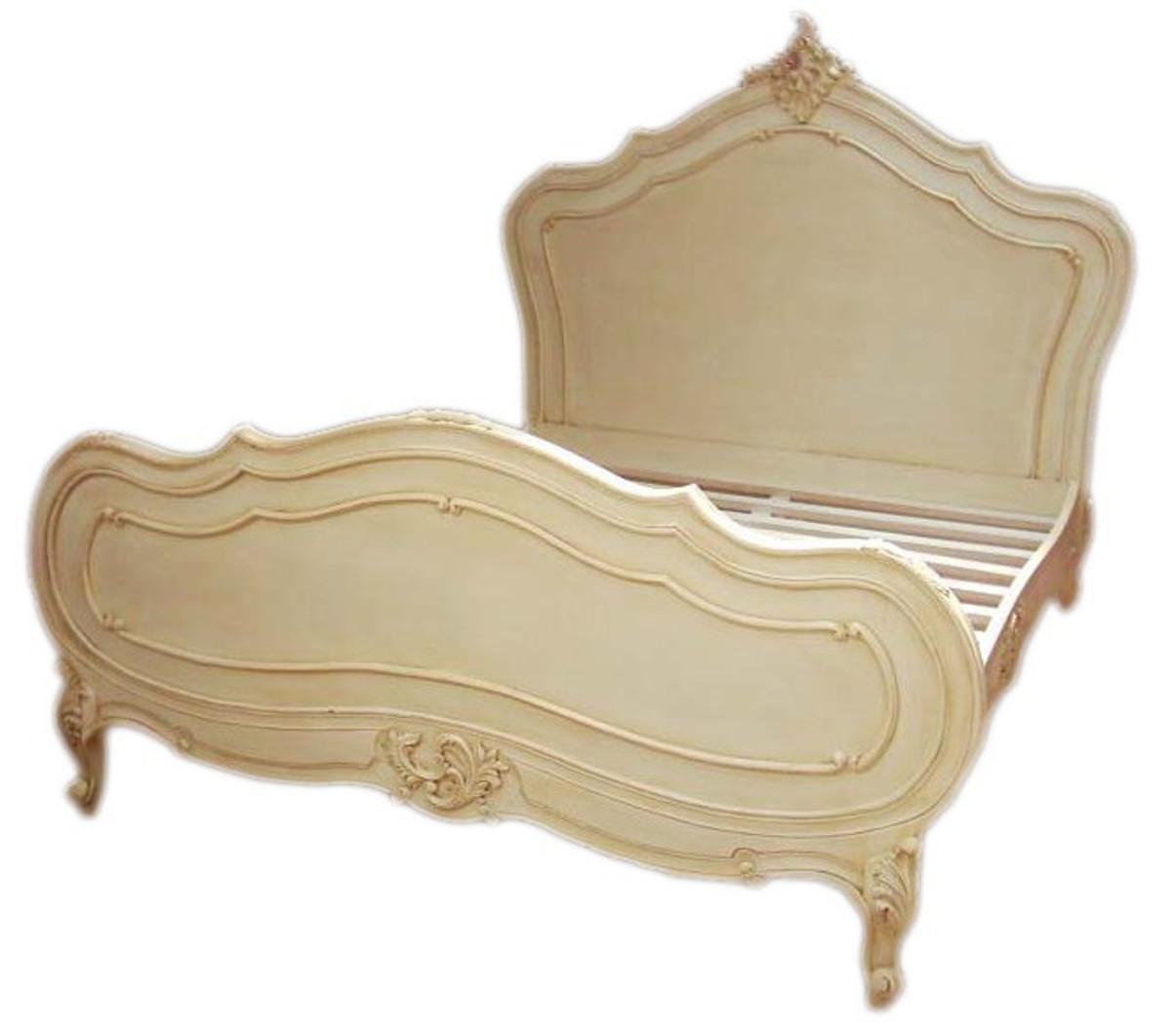 barock bett maison paris antik creme 180 x 200 cm aus der luxus kollektion von casa padrino casa. Black Bedroom Furniture Sets. Home Design Ideas