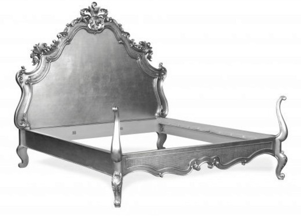 baroque bed lusso superior silver 180 x 200 cm from the. Black Bedroom Furniture Sets. Home Design Ideas