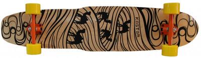 Koston longboard kicktail Carver complete board 44.0 x 9.75 inch Silk Road - Professional Longboard Complete Cruiser – Bild 1