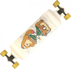 Koston Longboard dropdown complete board Cruiser Weasel 40.5 x 9.5 inch - Professional Longboard drop Carver