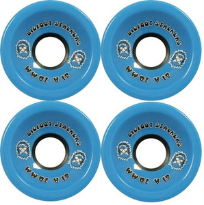 Big Foot Longboard Wheels Stalkers Blau 70mm / 81a Wheel Set Rollen Skateboard Bigfoot