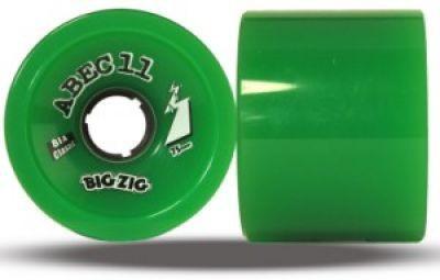 ABEC 11 Longboard Wheel Set Classic BigZigs 81A 75mm (4 pieces)