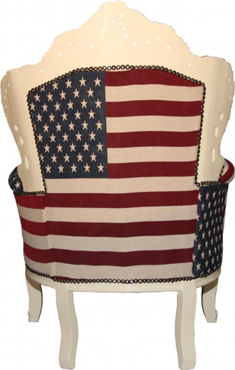 Casa padrino baroque armchair king usa cream for Baroque furniture usa