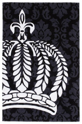 Harald Glööckler designer rug 160 x 230 cm black / white - Baroque Design Carpet
