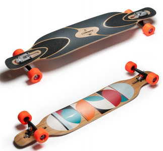 Loaded Longboard Cruiser Komplettboard Dervish Sama Drop Through - 42.8 inch inch Drop Thru Komplett mit Koston Kugellagern
