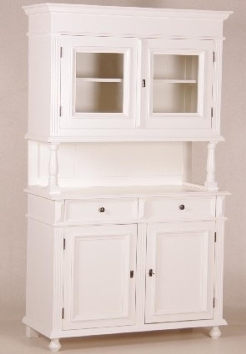 Casa Padrino Shabby Chic Landhaus Stil Schrank Buffetschrank Weiß   Schrank  Esszimmer