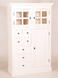 Casa Padrino shabby chic country style buffet cabinet cabinet with many drawers white - dining room cabinet