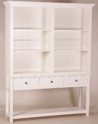Casa Padrino shabby chic country style buffet cabinet cabinet White B 158 x H 202 cm - dining room cabinet