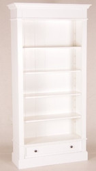 Casa Padrino Shabby Chic Country Style Bookcase White B 100 H 200 cm cabinet