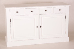Casa Padrino Shabby Chic Cottage Style Dresser White B 150 H 90 cm furniture dining hall closet