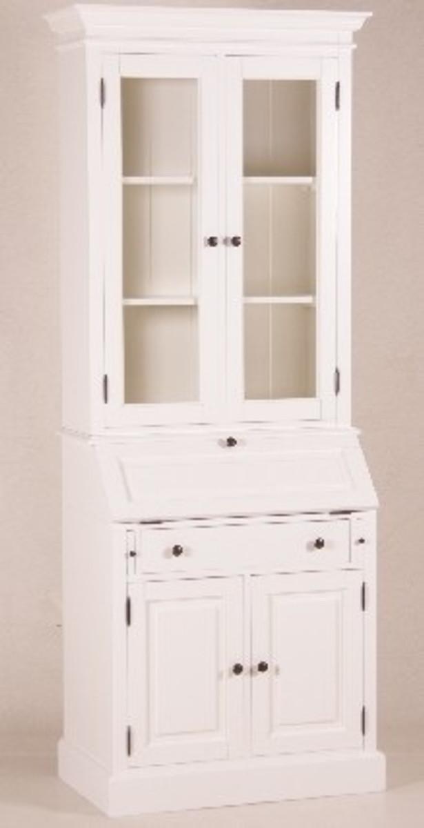 Casa Padrino Shabby Chic Landhaus Stil Schrank Buffetschrank Weiß B ...