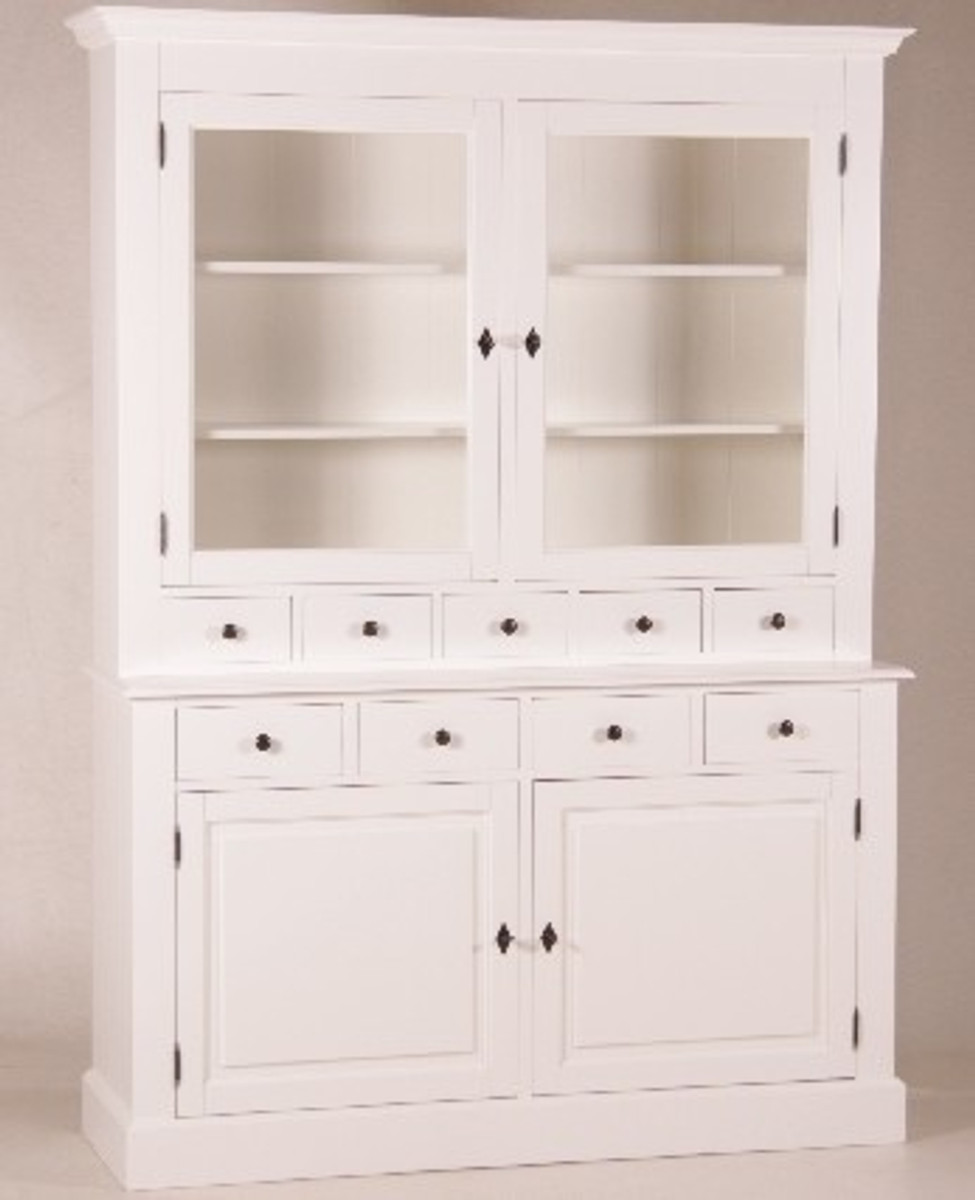 Casa Padrino Shabby Chic Country Style Buffet Cabinet Cabinet White