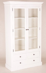 Casa Padrino shabby chic country style buffet cabinet cabinet White W 110 x H 190 cm - dining room cabinet