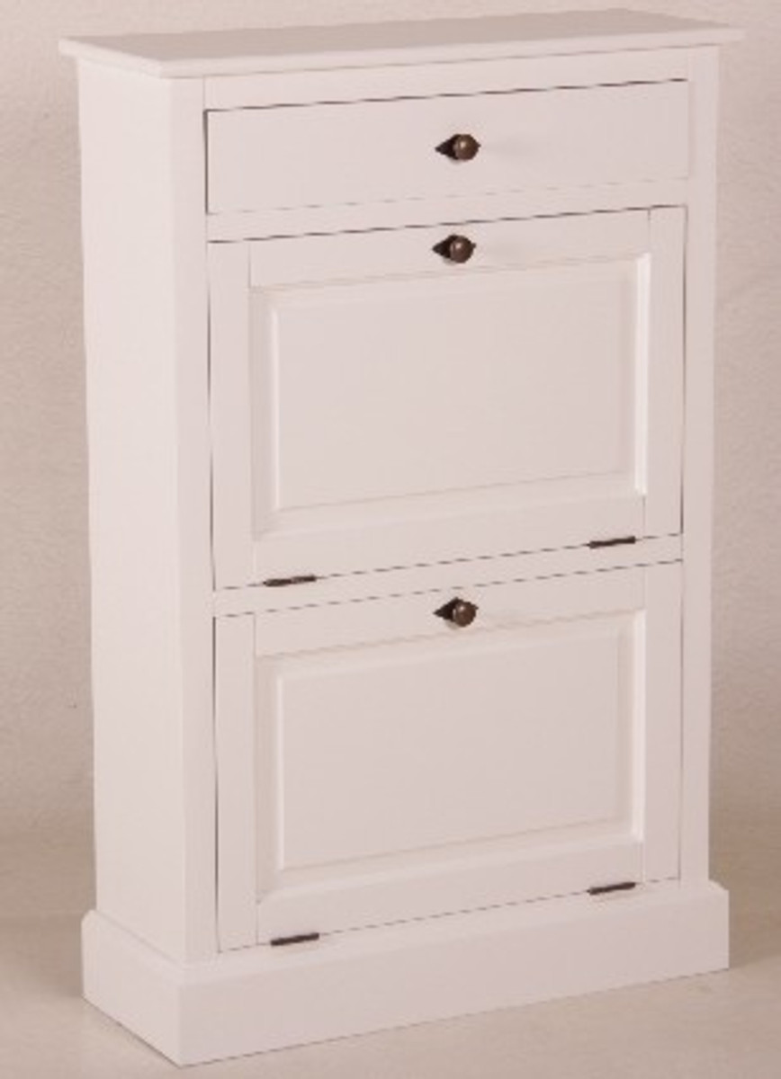 casa padrino shabby chic country style shoe cabinet white b 75 h 115 cm furniture shoe cabinet. Black Bedroom Furniture Sets. Home Design Ideas
