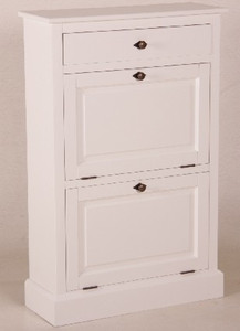 casa padrino shabby chic country style shoe cabinet white. Black Bedroom Furniture Sets. Home Design Ideas